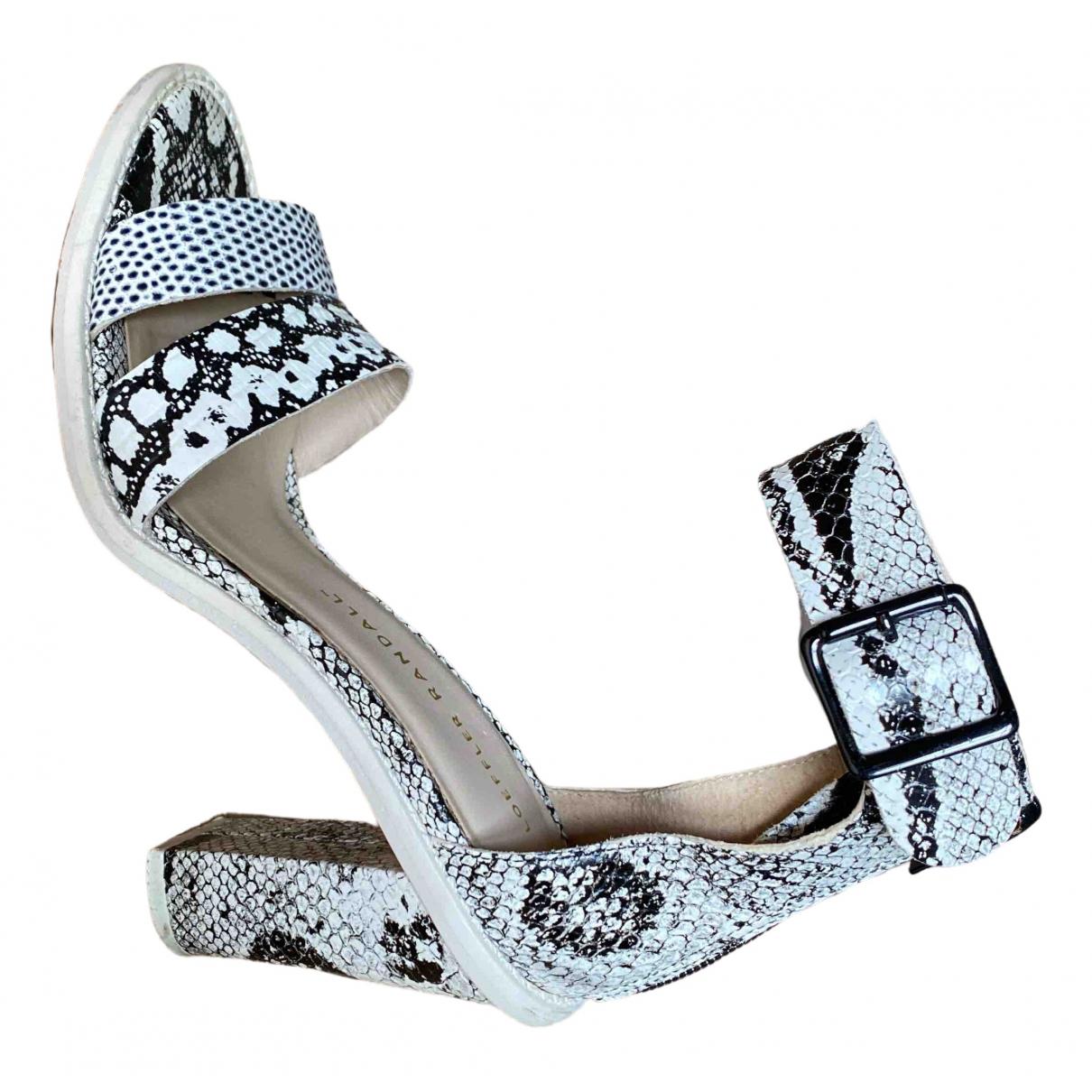 Loeffler Randall \N White Leather Sandals for Women 6.5 US