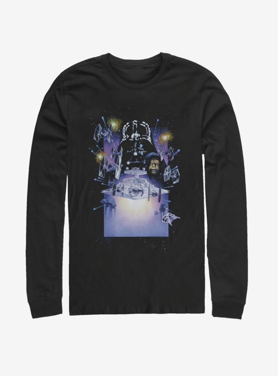 Star Wars Darth Vader Galaxy Long-Sleeve T-Shirt