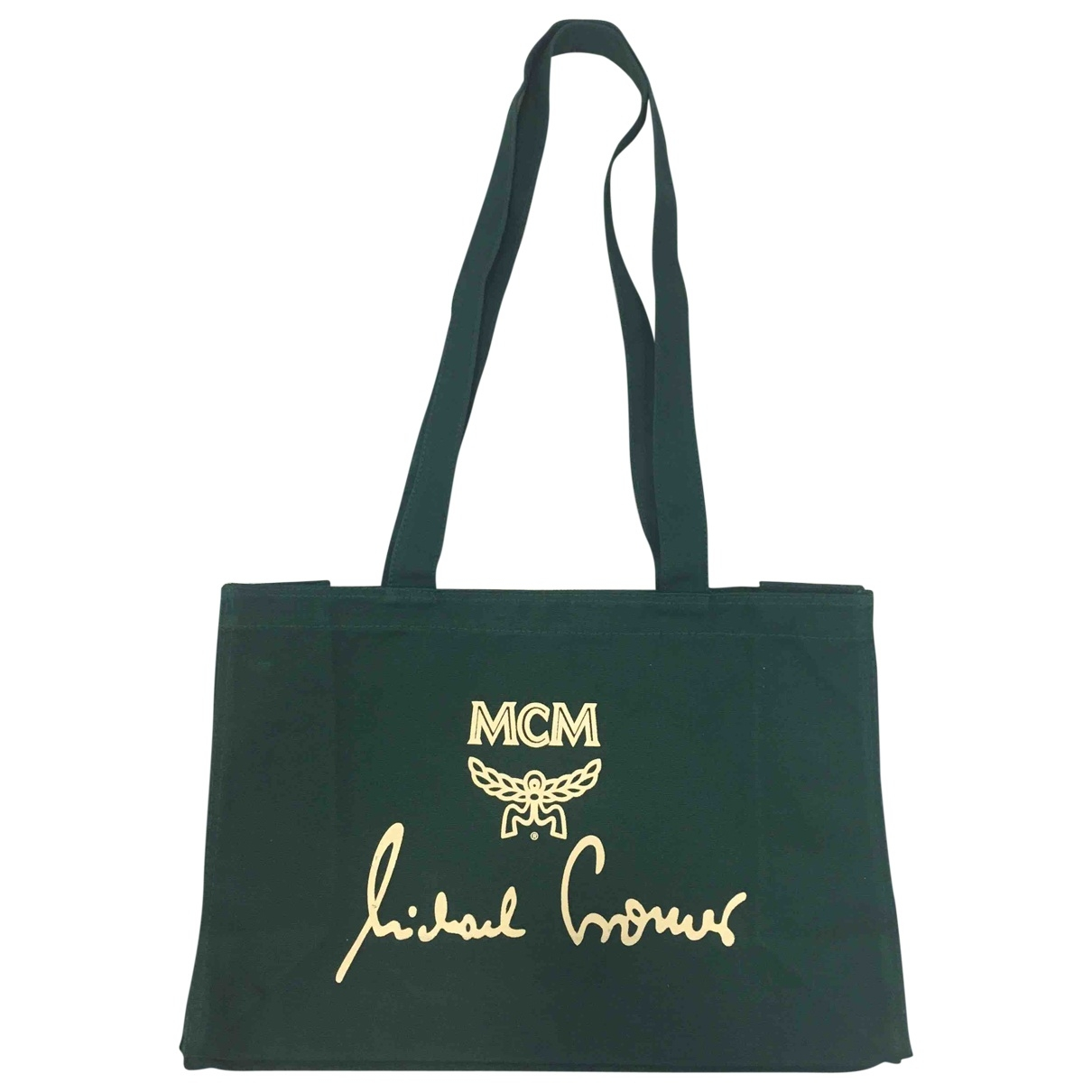 Mcm \N Green Cotton Travel bag for Women \N