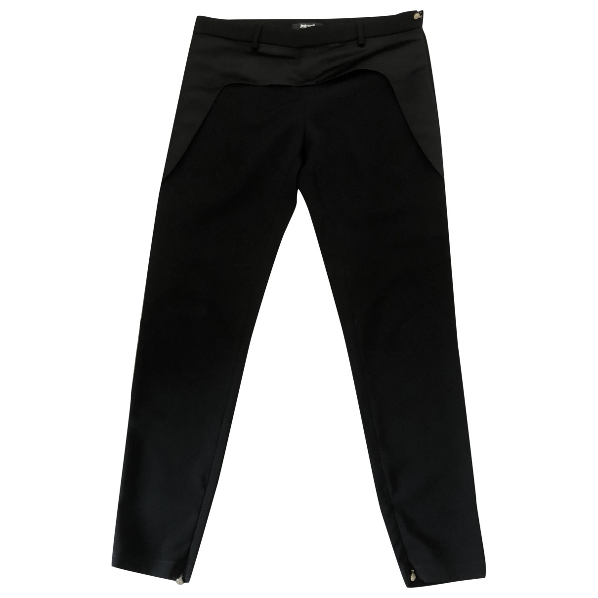 Just Cavalli \N Black Trousers for Women 40 IT