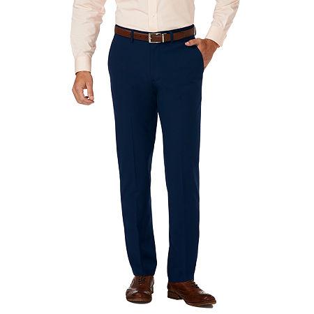 JM Haggar Slim Fit Flat Front Pant, 32 29, Blue