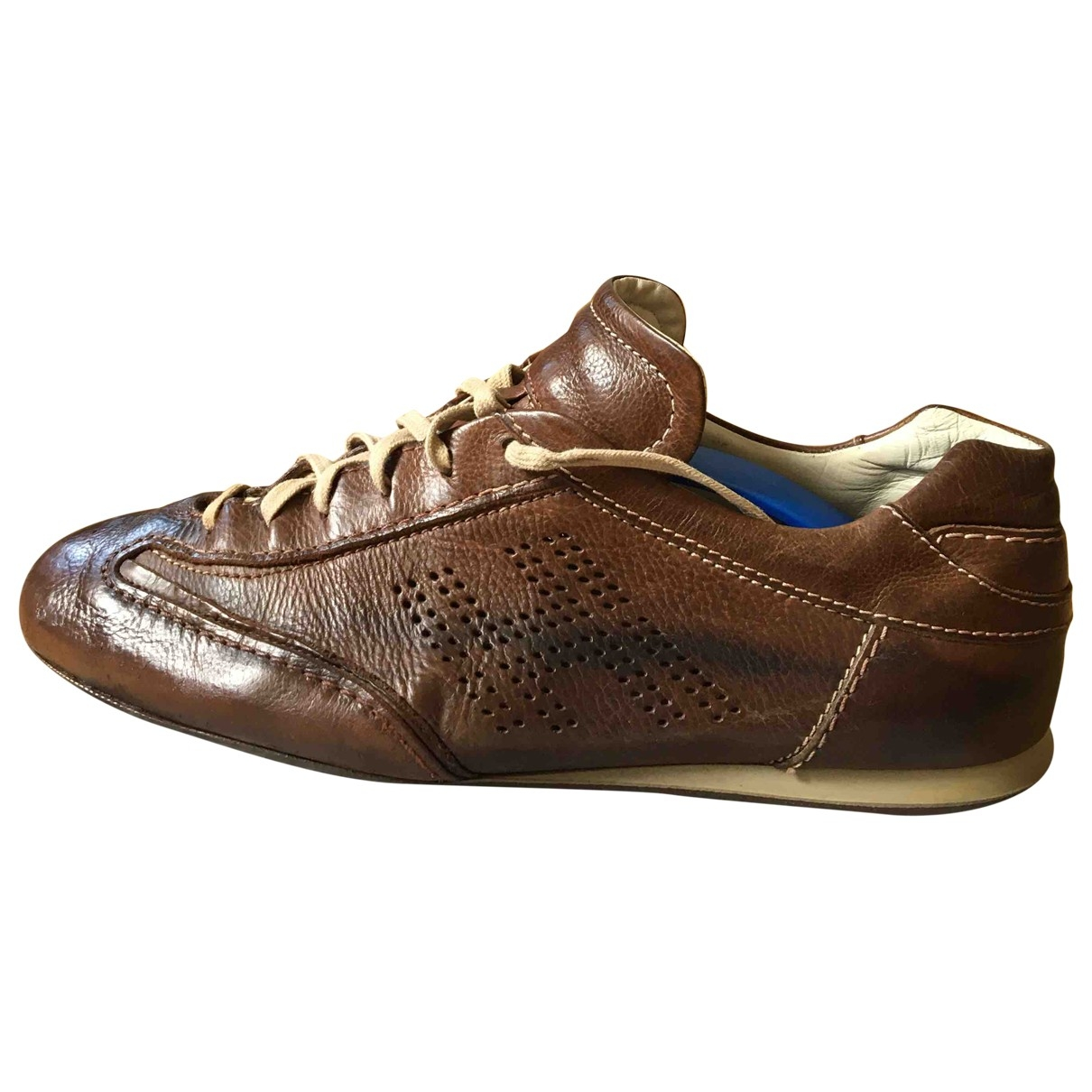 Hogan \N Brown Leather Trainers for Men 8.5 US