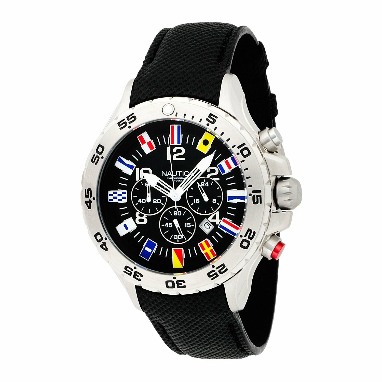 Nautica Men's N16553G Black Polyurethane Japanese Quartz Dress Watch