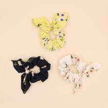 3pcs Ditsy Floral Pattern Scrunchie