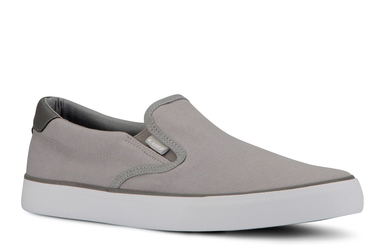 Men's Clipper Slip-On Sneaker (Choose Your Color: ALLOY/CHARCOAL/WHITE, Choose Your Size: 8.5)