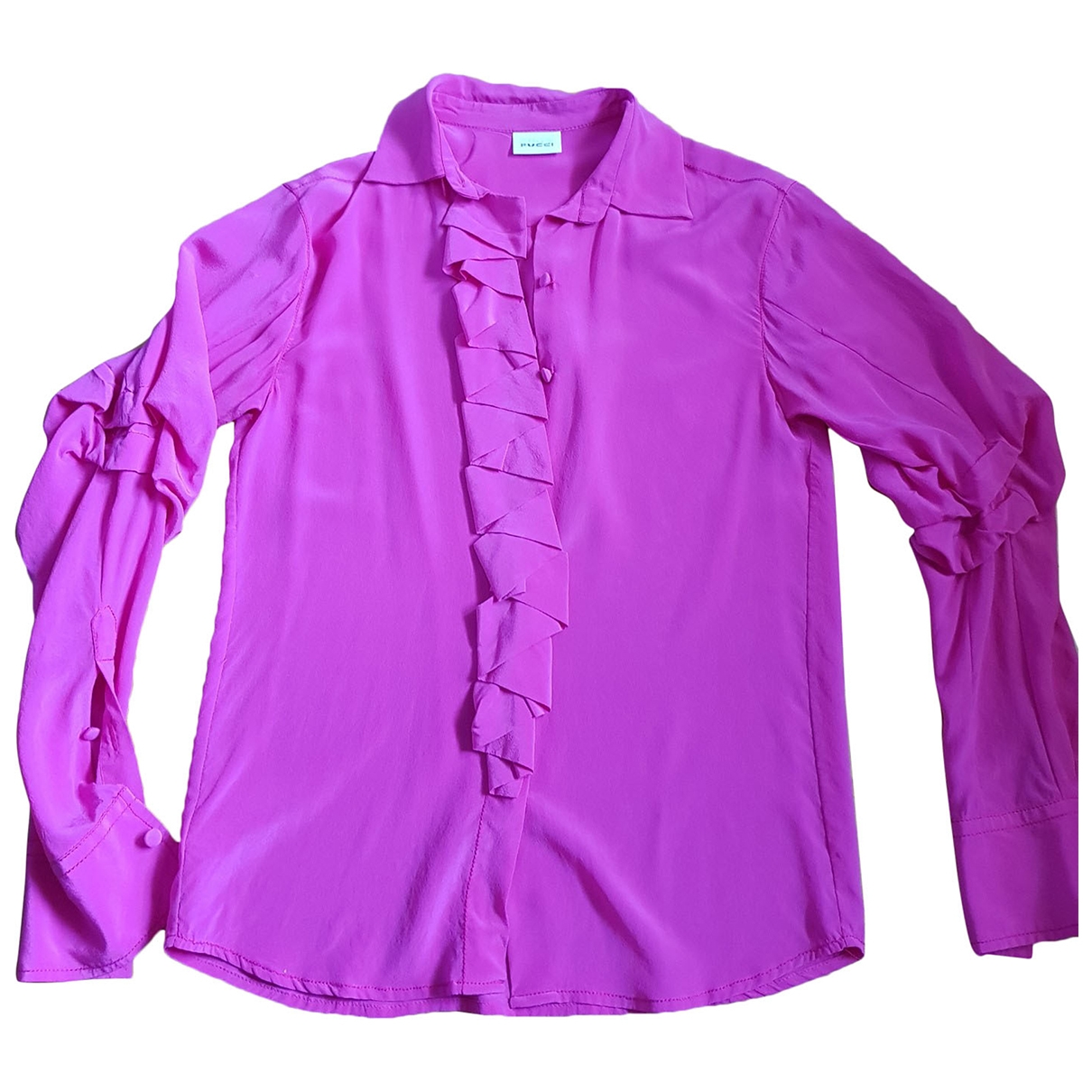 Non Sign?? / Unsigned \N Pink Silk  top for Women 42 IT