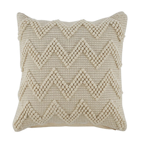 Signature Design by Ashley Amie Square Throw Pillow, One Size , White