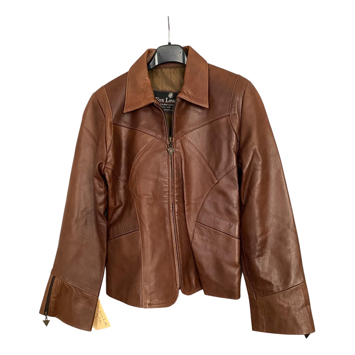 Non Signé / Unsigned \N Brown Leather jacket for Women 38 FR