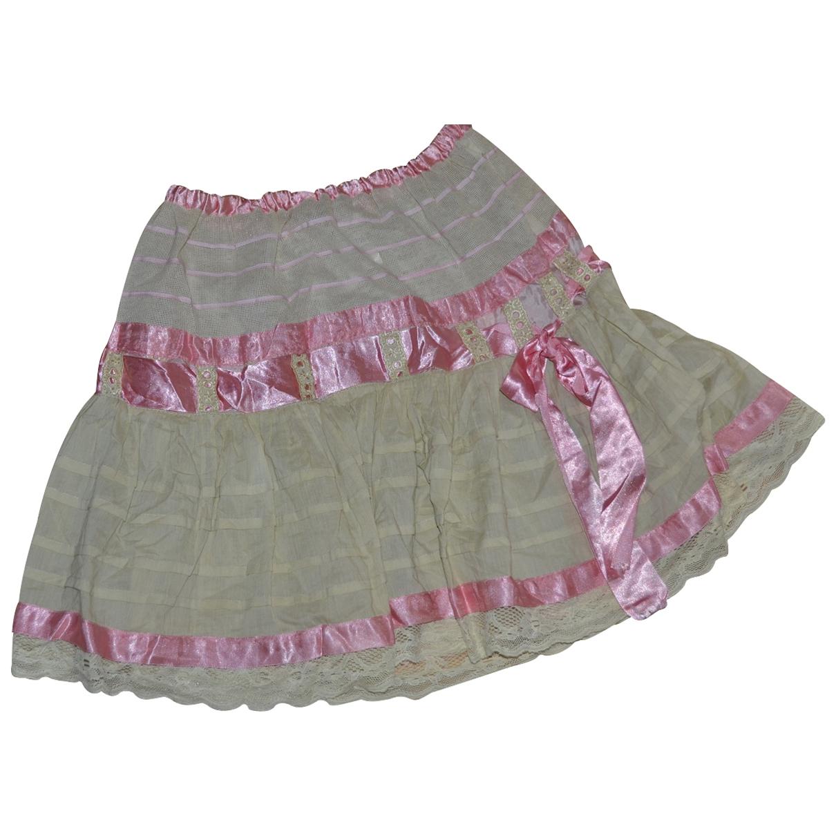 Blumarine \N Multicolour Cotton skirt for Women 40 IT