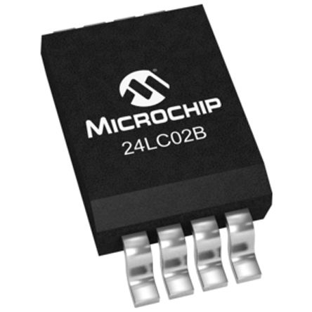 Microchip 24LC02BT-I/SN, 2kbit Serial EEPROM Memory, 1000ns 8-Pin SOIC I2C (25)