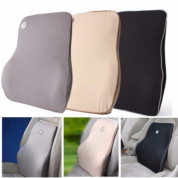 Lumbar Back Support Waist Cushion Pillow Memory Foam Cotton Home Chair Car Seat Lumbar Pad