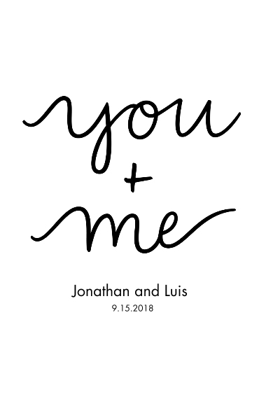 Non-Photo 20x30 Poster(s), Board, Home Décor -You+Me