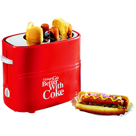 Nostalgia HDT600COKE Coca-Cola Pop-Up Hot Dog Toaster, One Size , Red