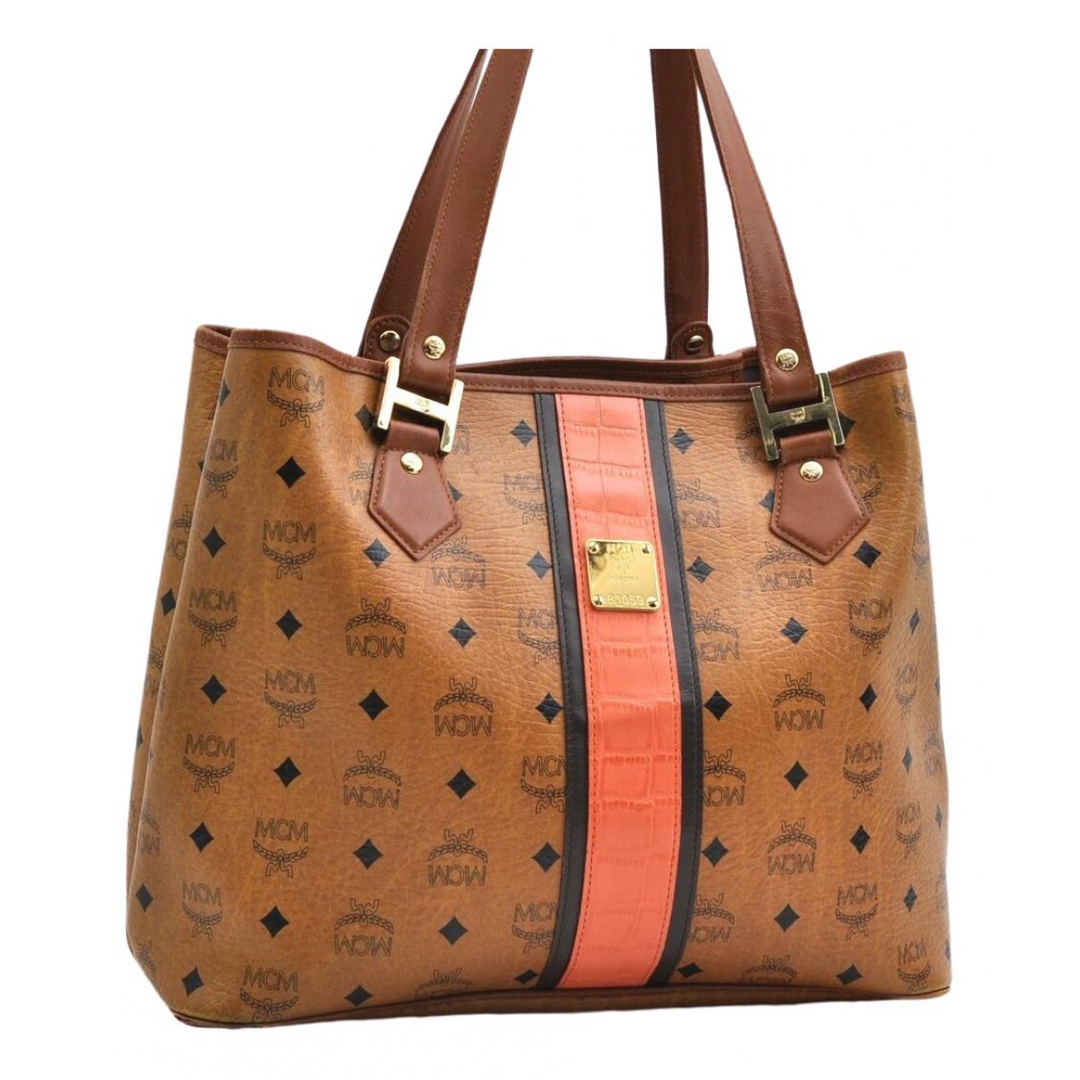 Mcm \N Brown Leather handbag for Women \N