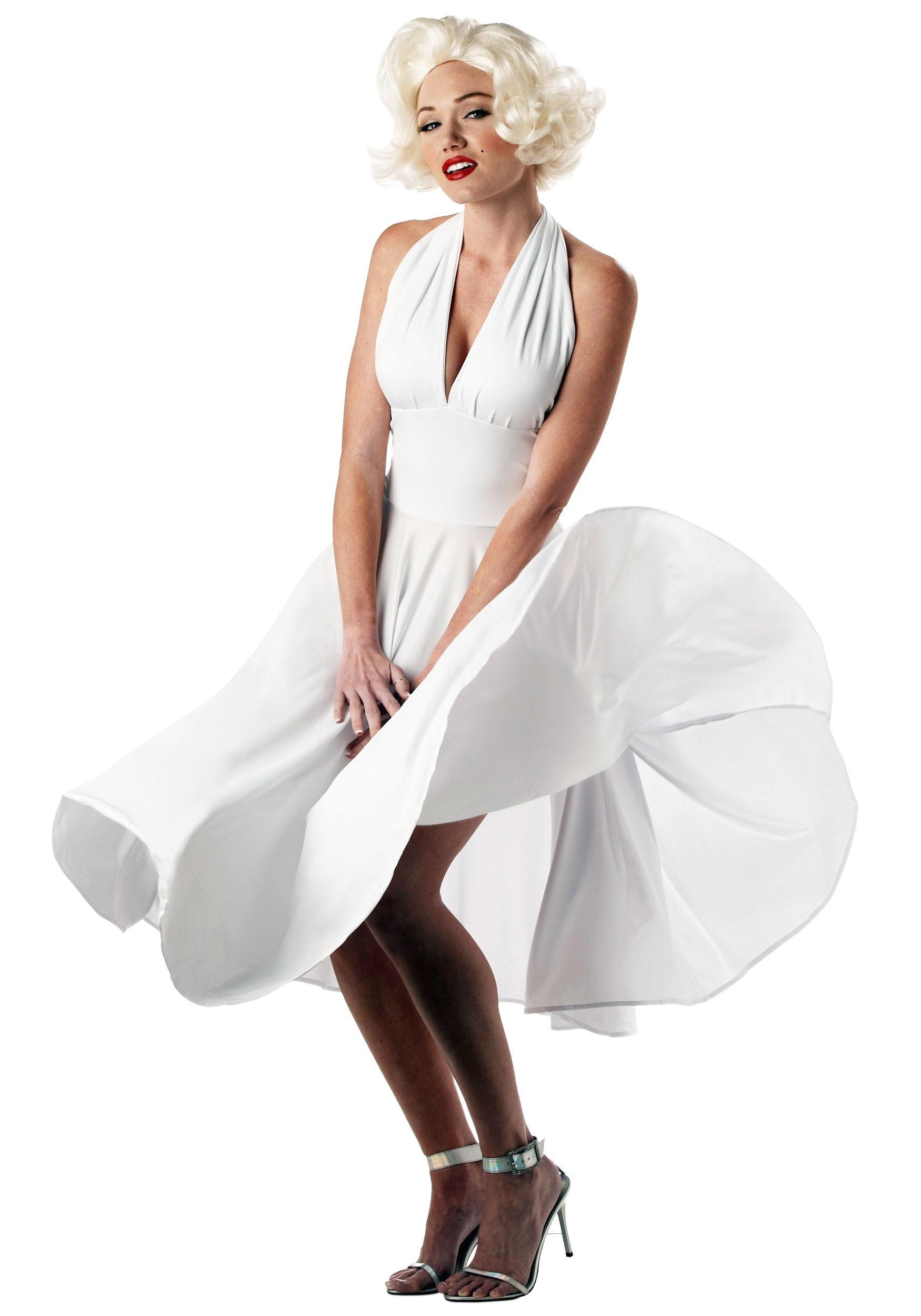 Marilyn Monroe Dress Costume | Sexy White Costume Dress