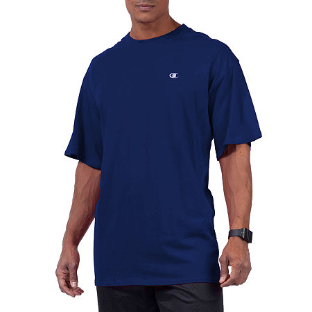Champion-Big and Tall Mens Crew Neck Short Sleeve T-Shirt, 2x-large , Blue