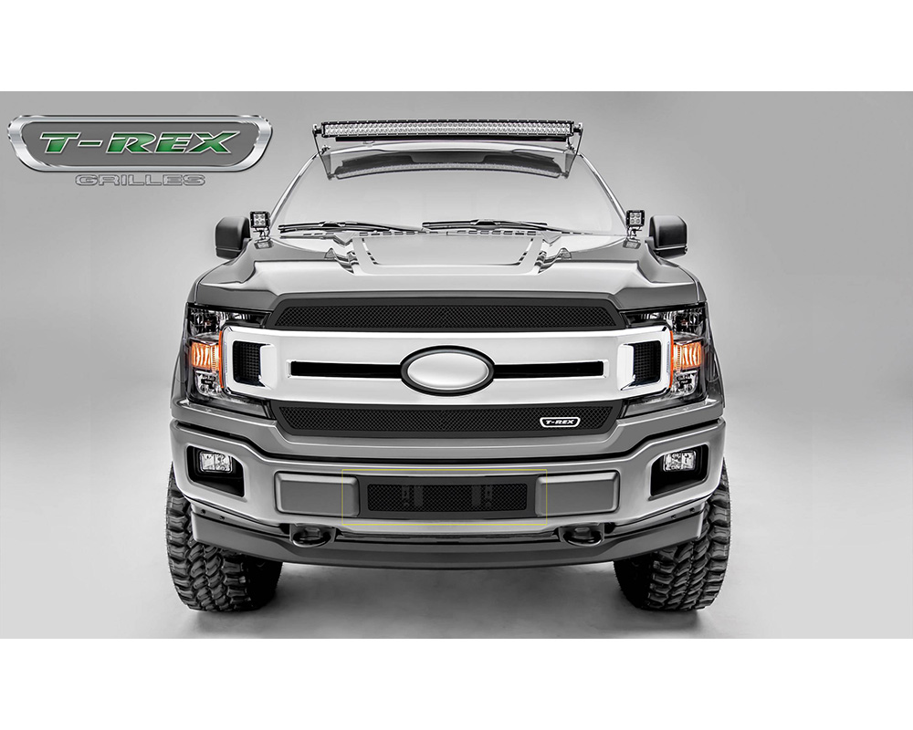 2018-2021 F-150 Limited, Lariat Upper Class Bumper Grille, Black, 1 Pc, Overlay/Insert - PN #52711