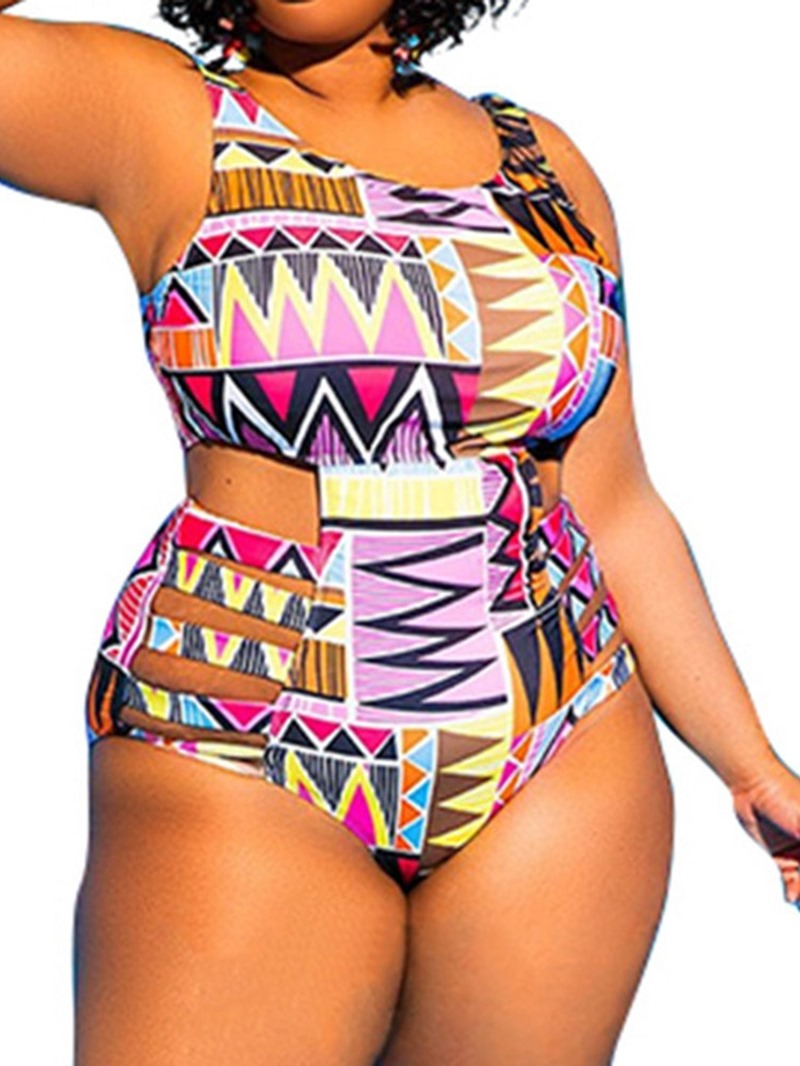 Ericdress One Piece Print Skimpy Swimwear