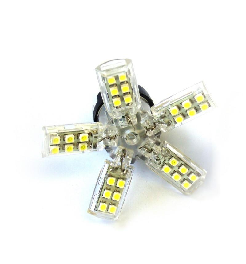 Race Sport Lighting 3156-SPY-AMBER Amber 3156 Spyder 5050 LED Replacement Bulb Pair