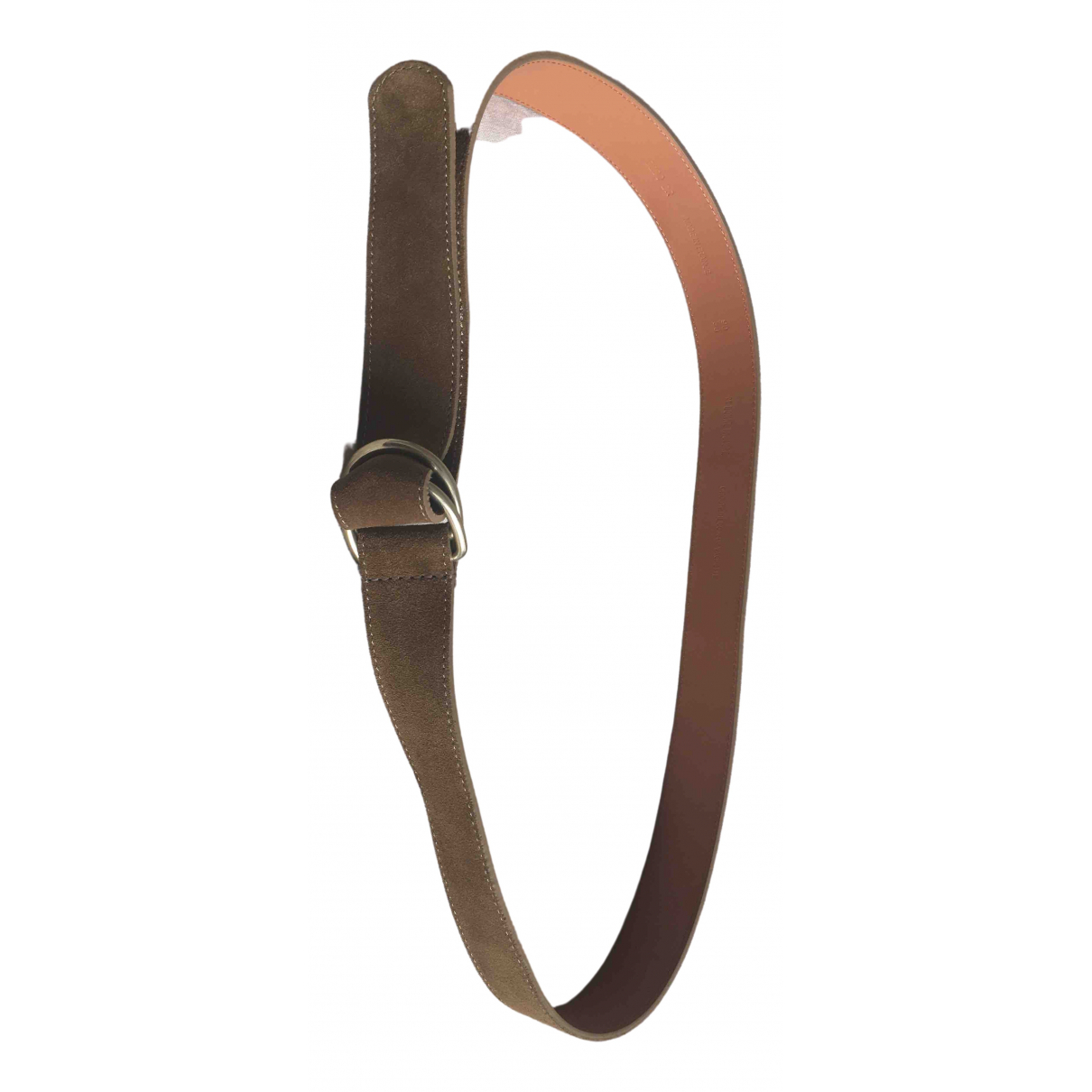 De Bonne Facture \N Brown Leather belt for Men 90 cm