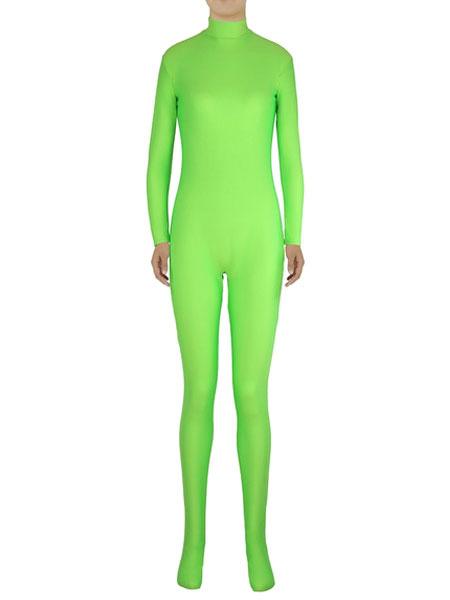 Milanoo Light Green Morph Suit Adults Bodysuit Lycra Spandex Catsuit for Women