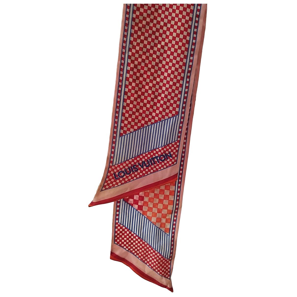 Louis Vuitton \N Red Silk scarf for Women \N