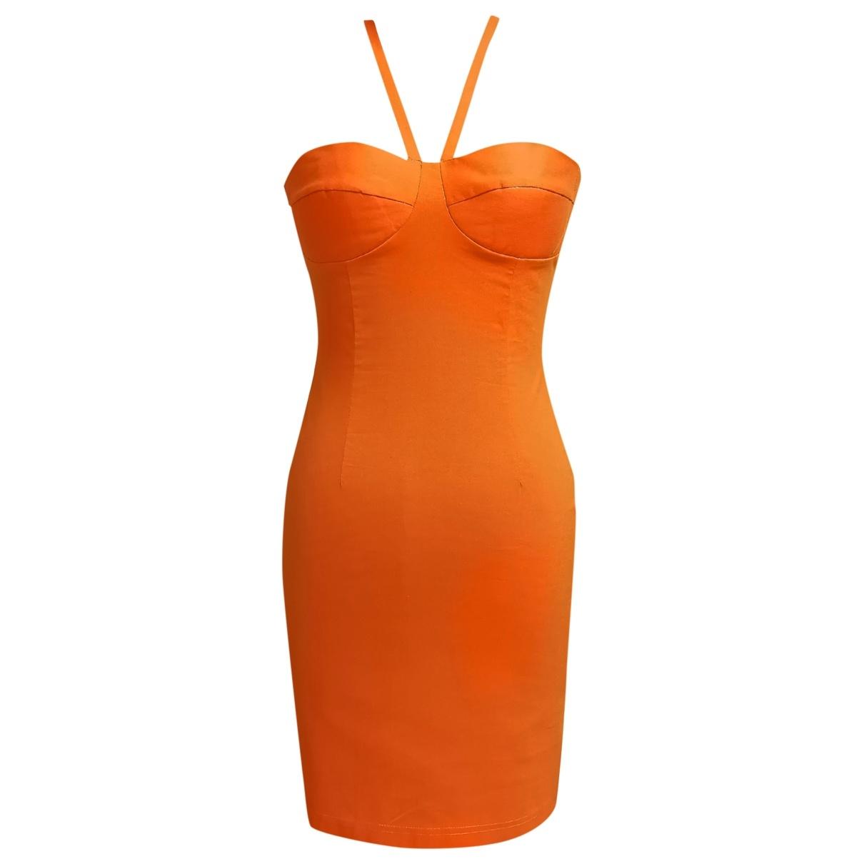 Non Signé / Unsigned \N Orange Cotton dress for Women M International