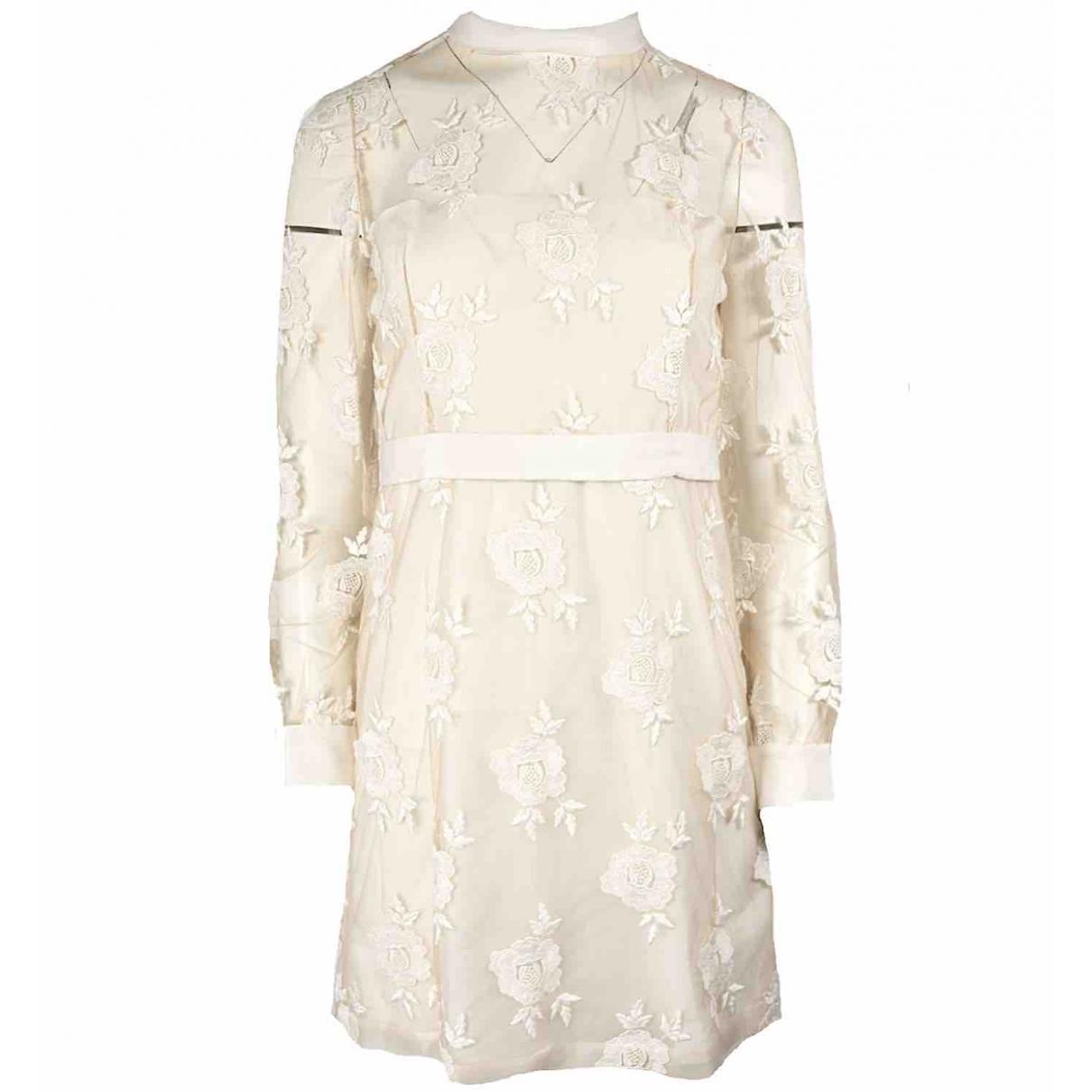 Blumarine \N Ecru Silk dress for Women 40 IT