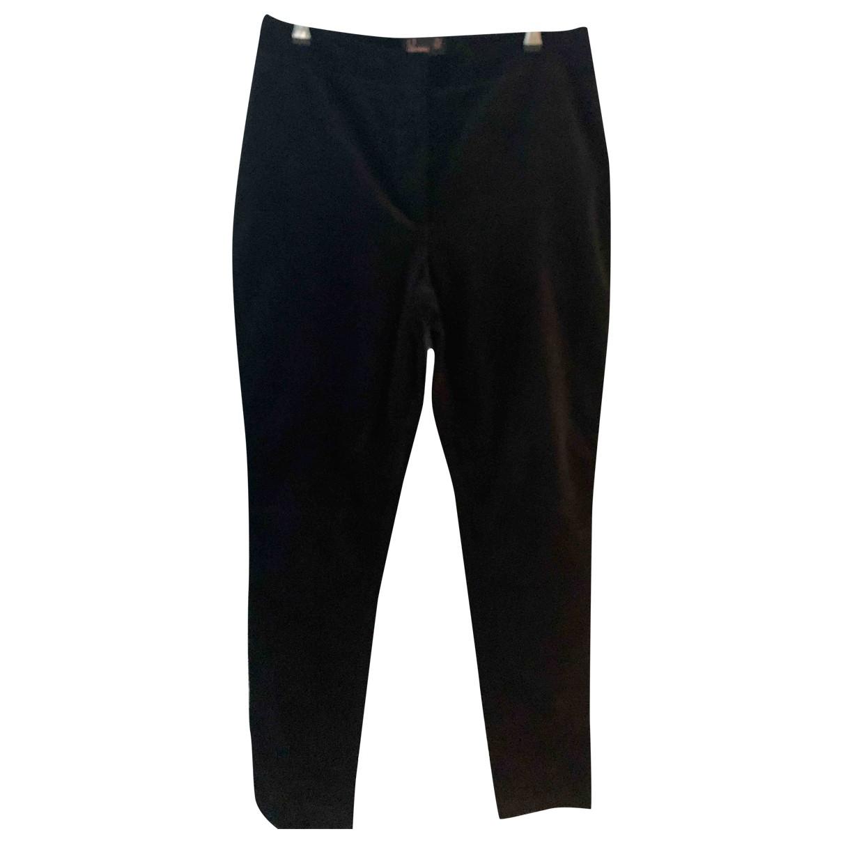 Fred Perry \N Black Velvet Trousers for Women 14 UK