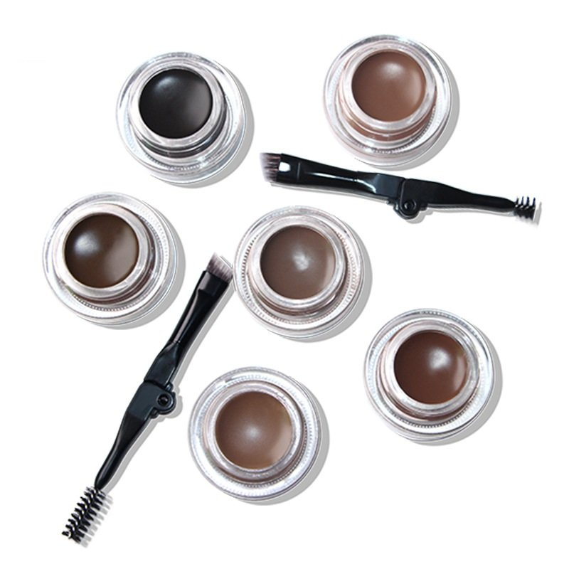 6 Color Eyebrow Cream Long Lasting Waterproof Eyebrow Dye Gel With Brush