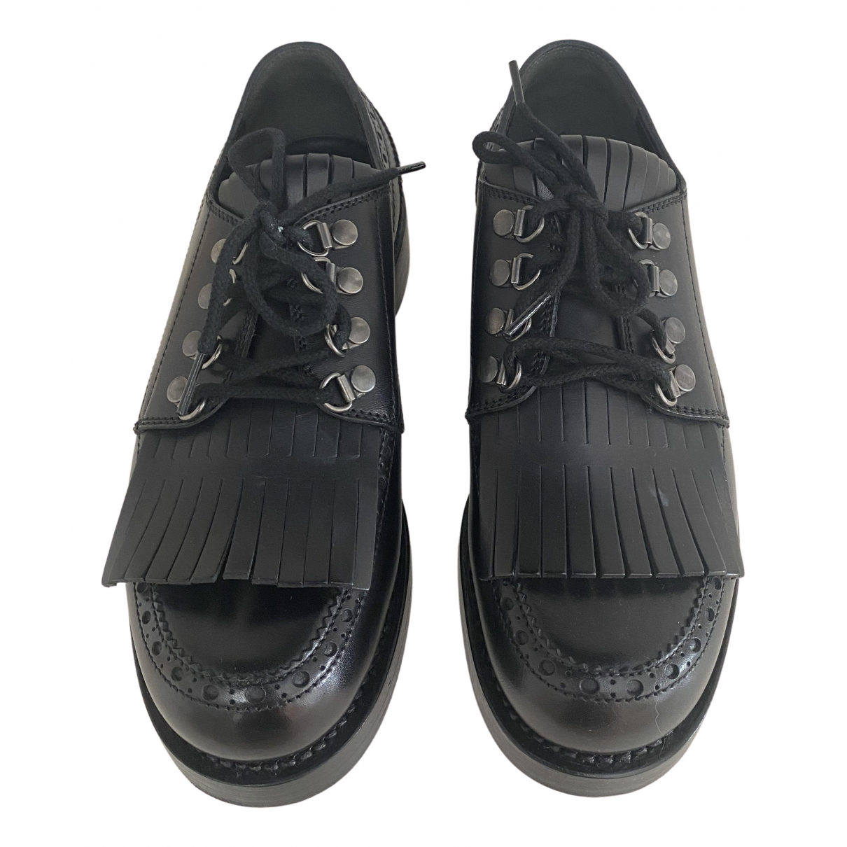 Gucci \N Black Leather Lace ups for Men 5 UK