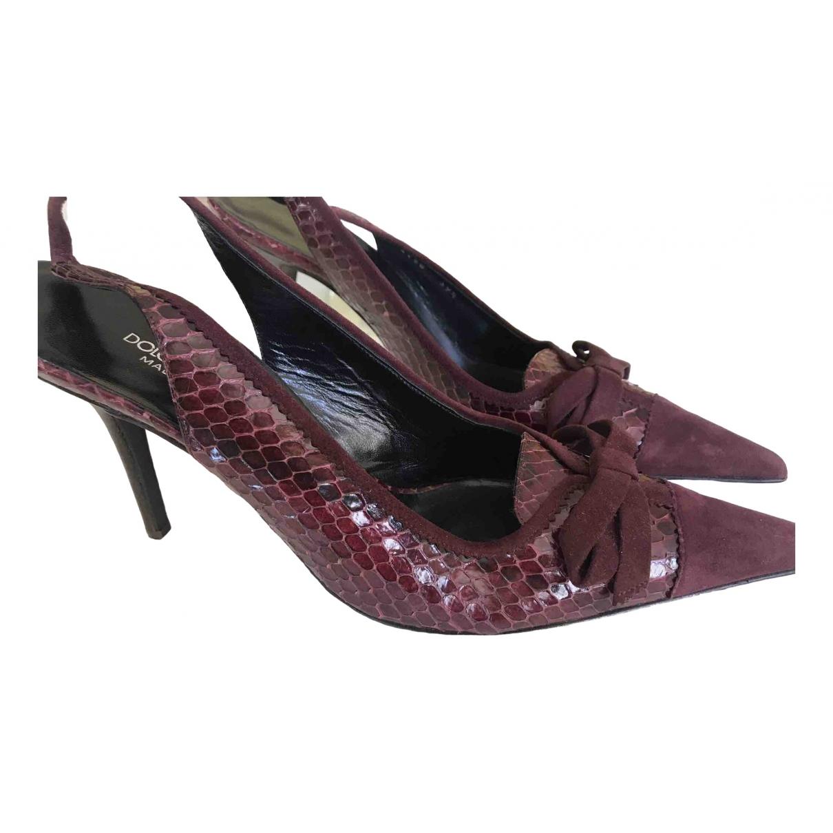 Dolce & Gabbana \N Burgundy Python Heels for Women 39.5 EU