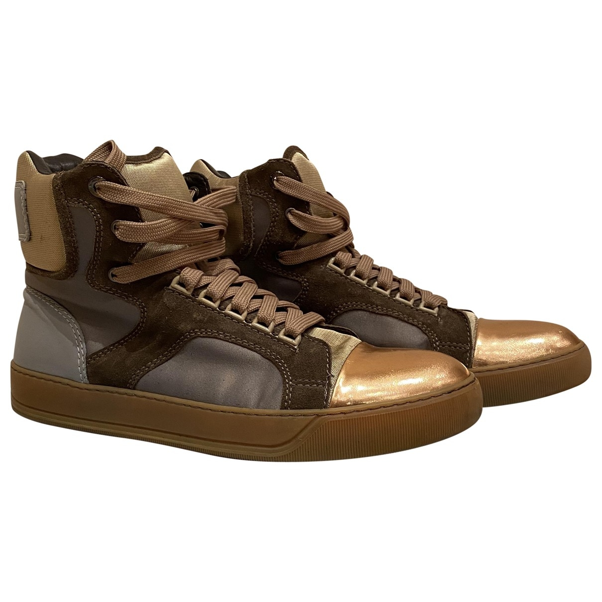 Lanvin \N Gold Leather Trainers for Men 9 UK