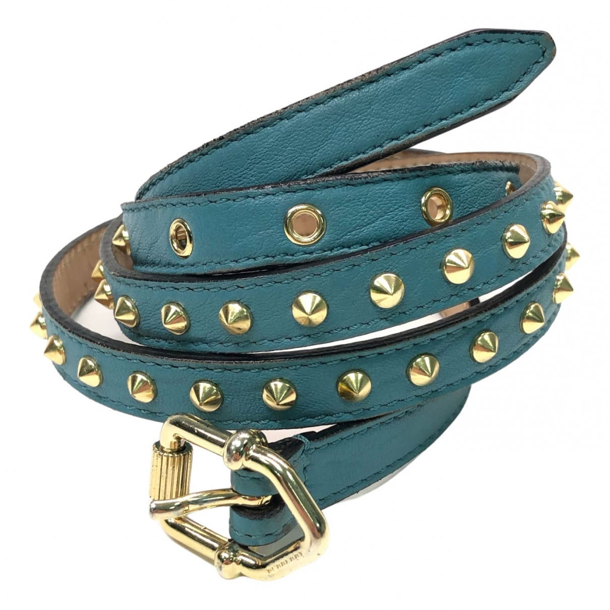 Burberry \N Blue Leather belt for Women 95 cm