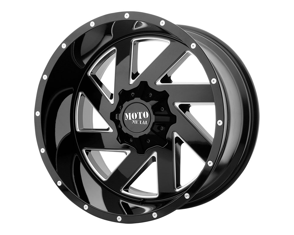 Moto Metal MO98829000300 MO988 Melee Wheel 20x9 Blank +0mm Gloss Black Milled