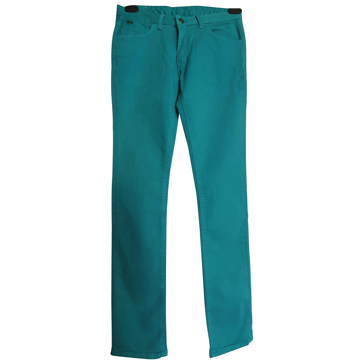 Lacoste \N Green Cotton Jeans for Women 38 FR