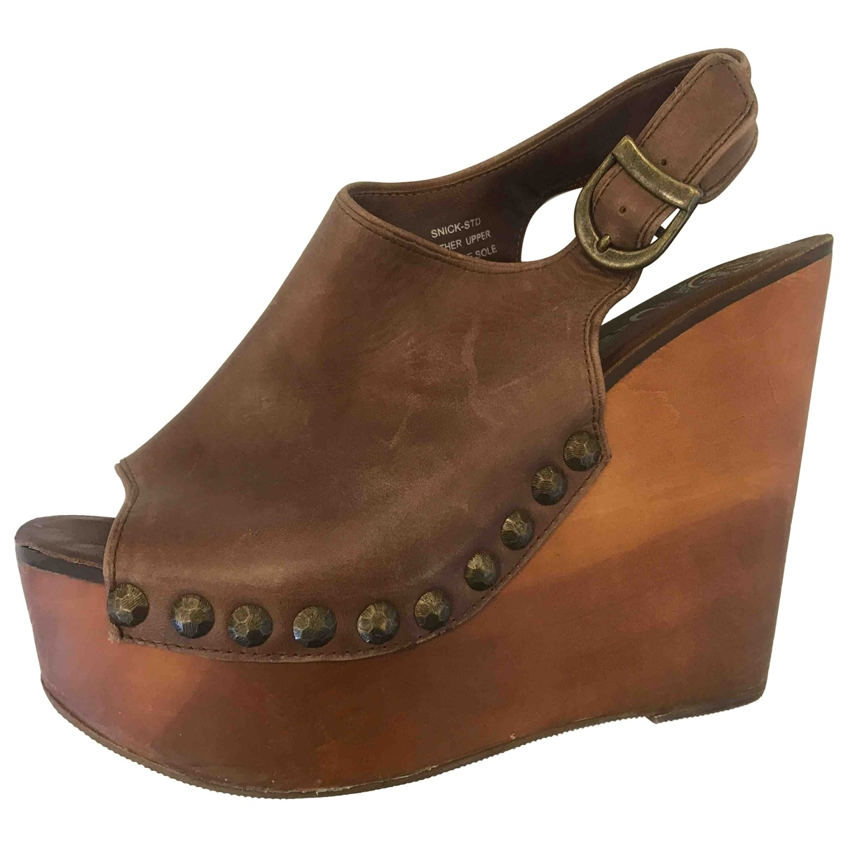 Jeffrey Campbell \N Brown Leather Mules & Clogs for Women 39 EU