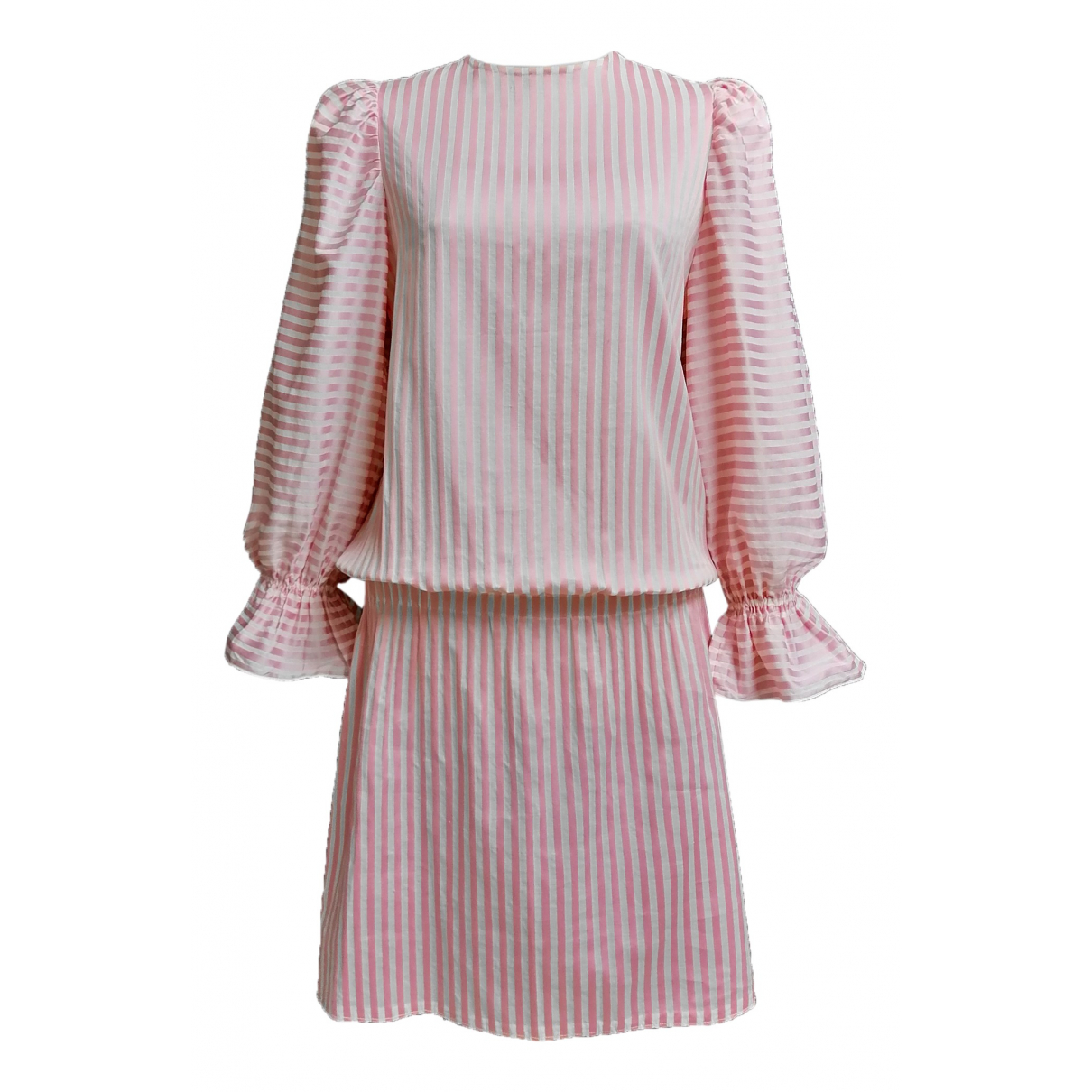 Non Signé / Unsigned \N Pink Cotton dress for Women M International