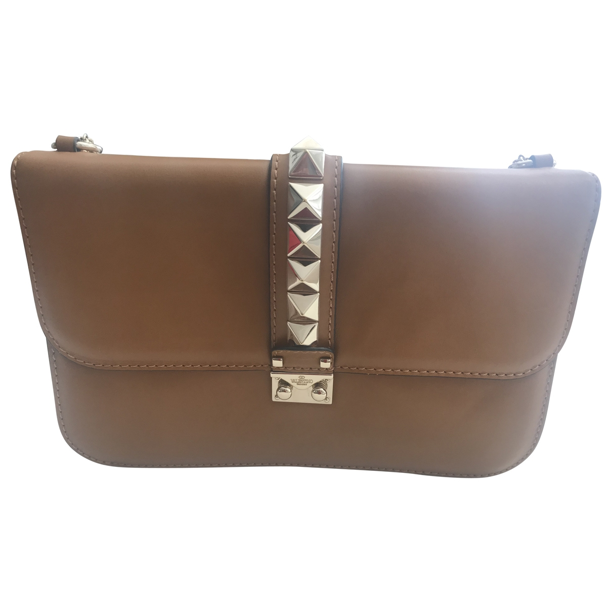 Valentino Garavani Glam Lock Brown Leather handbag for Women \N