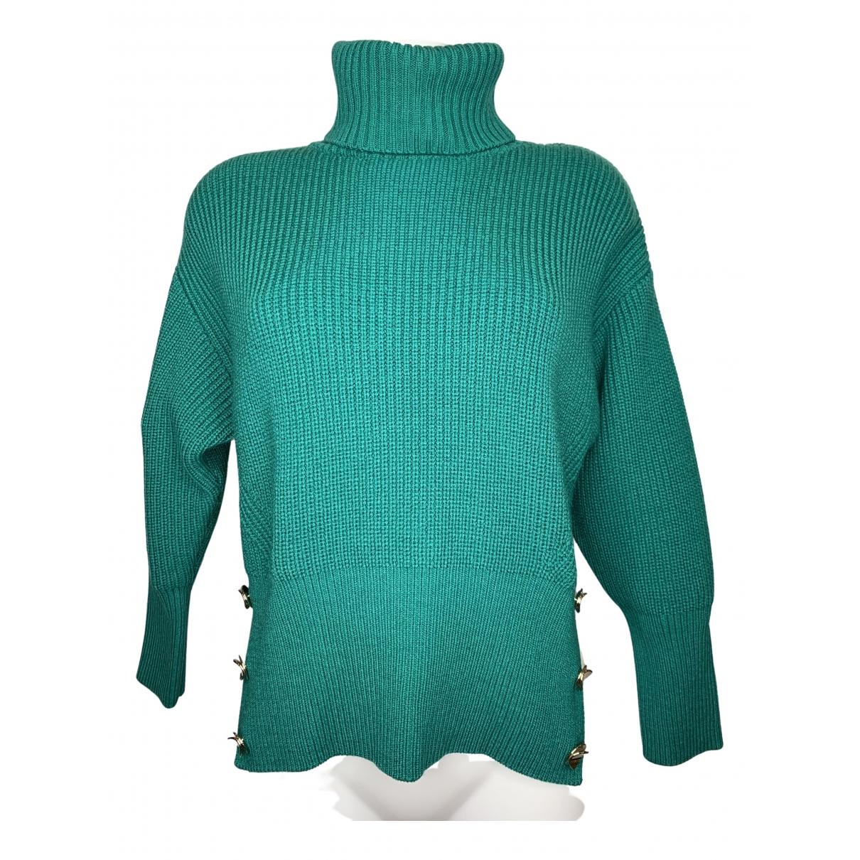 Elisabetta Franchi \N Green Wool Knitwear for Women 40 IT