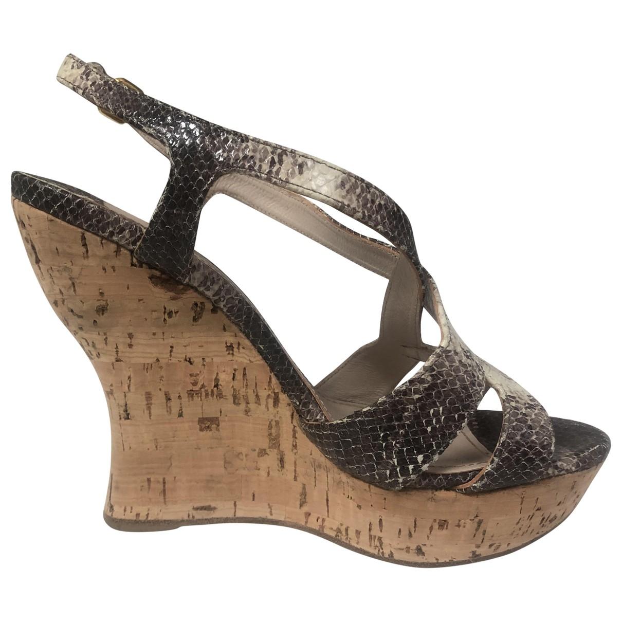 Miu Miu \N Beige Alligator Sandals for Women 37 EU