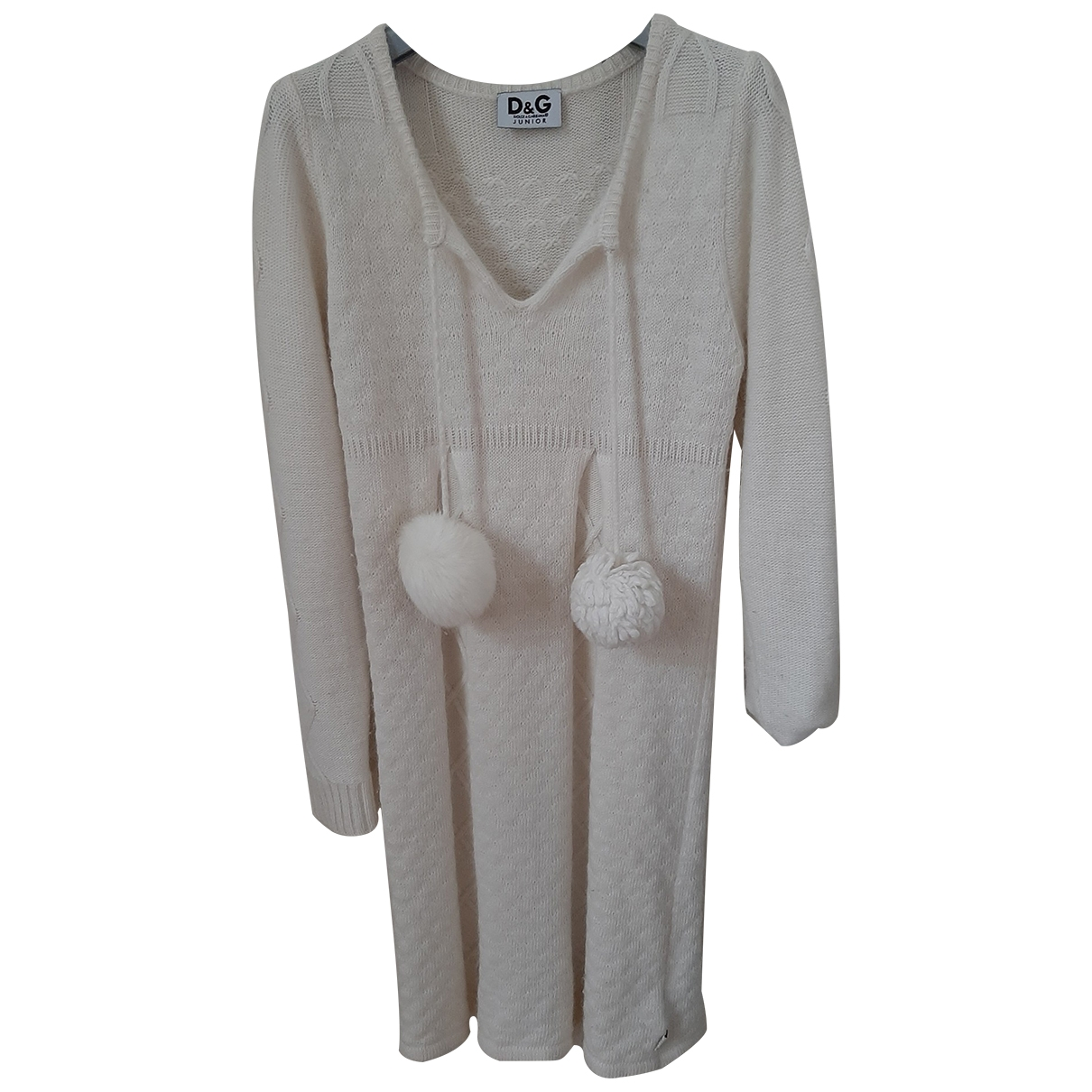 D&g \N White Wool dress for Kids 8 years - up to 128cm FR