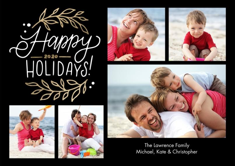 Holiday Photo Cards 5x7 Cards, Premium Cardstock 120lb, Card & Stationery -Holiday 2020 Foliage by Tumbalina