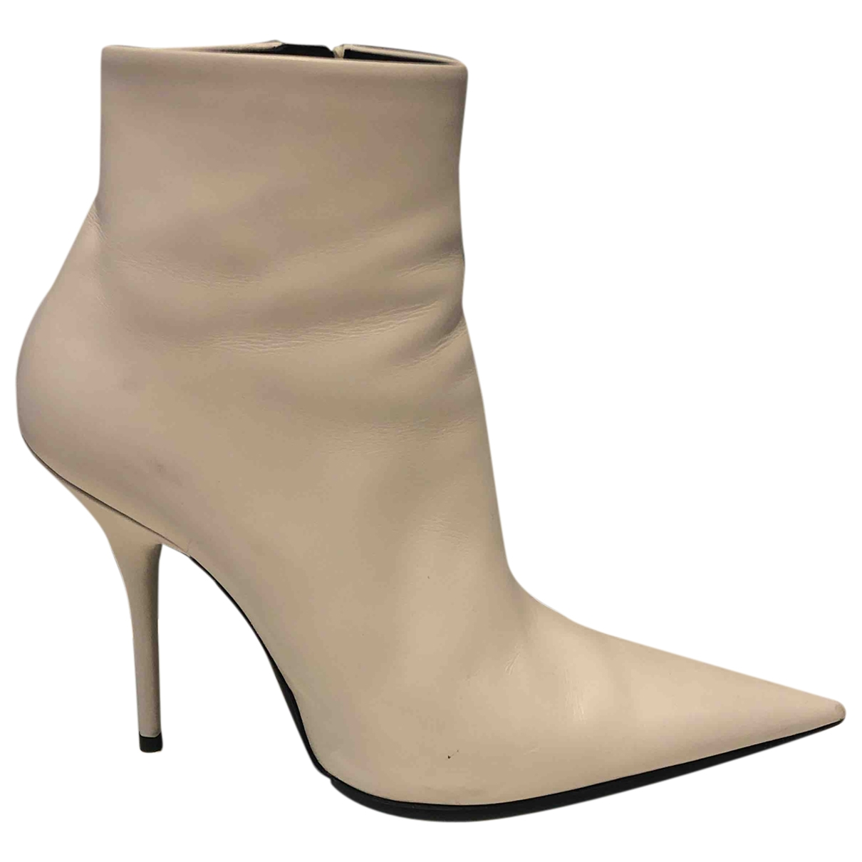 Balenciaga Knife White Leather Ankle boots for Women 39.5 EU