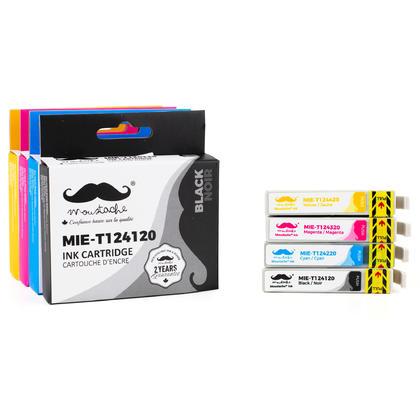 Compatible Epson T124 Ink Cartridges Combo BK/C/M/Y - Moustache@