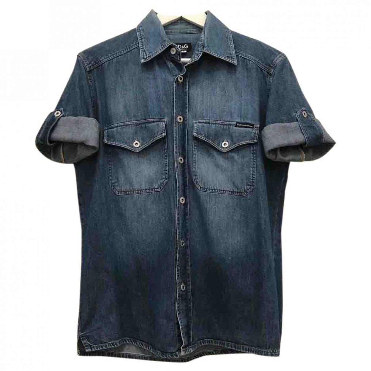 D&g \N Blue Denim - Jeans Shirts for Men L International