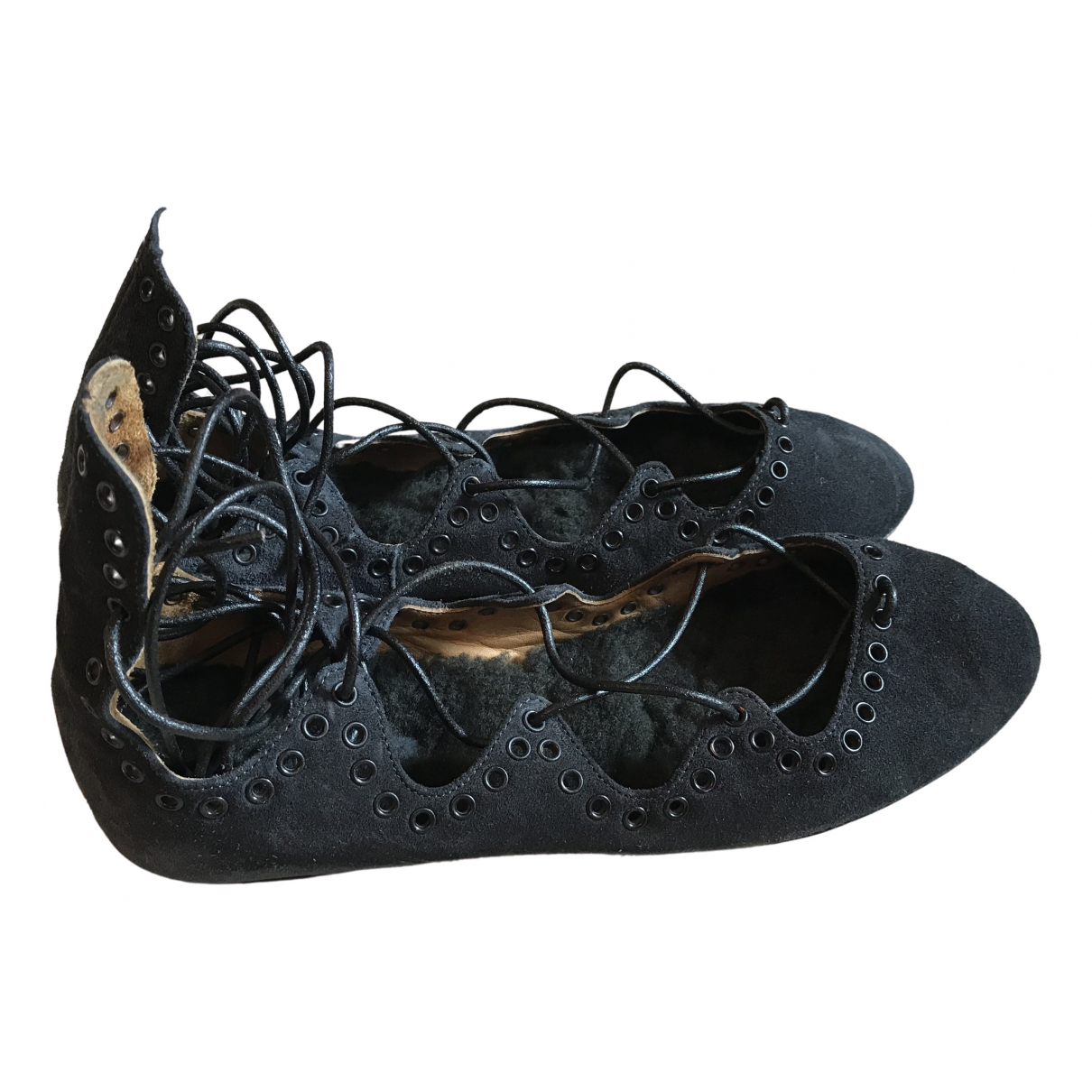 Isabel Marant \N Anthracite Suede Ballet flats for Women 36 EU