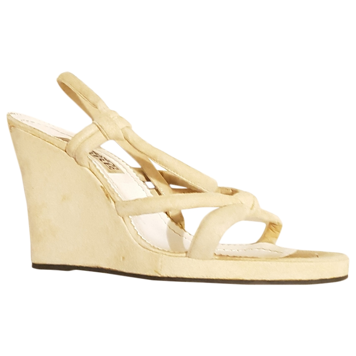 Gianfranco Ferr?? \N Beige Suede Sandals for Women 40 EU