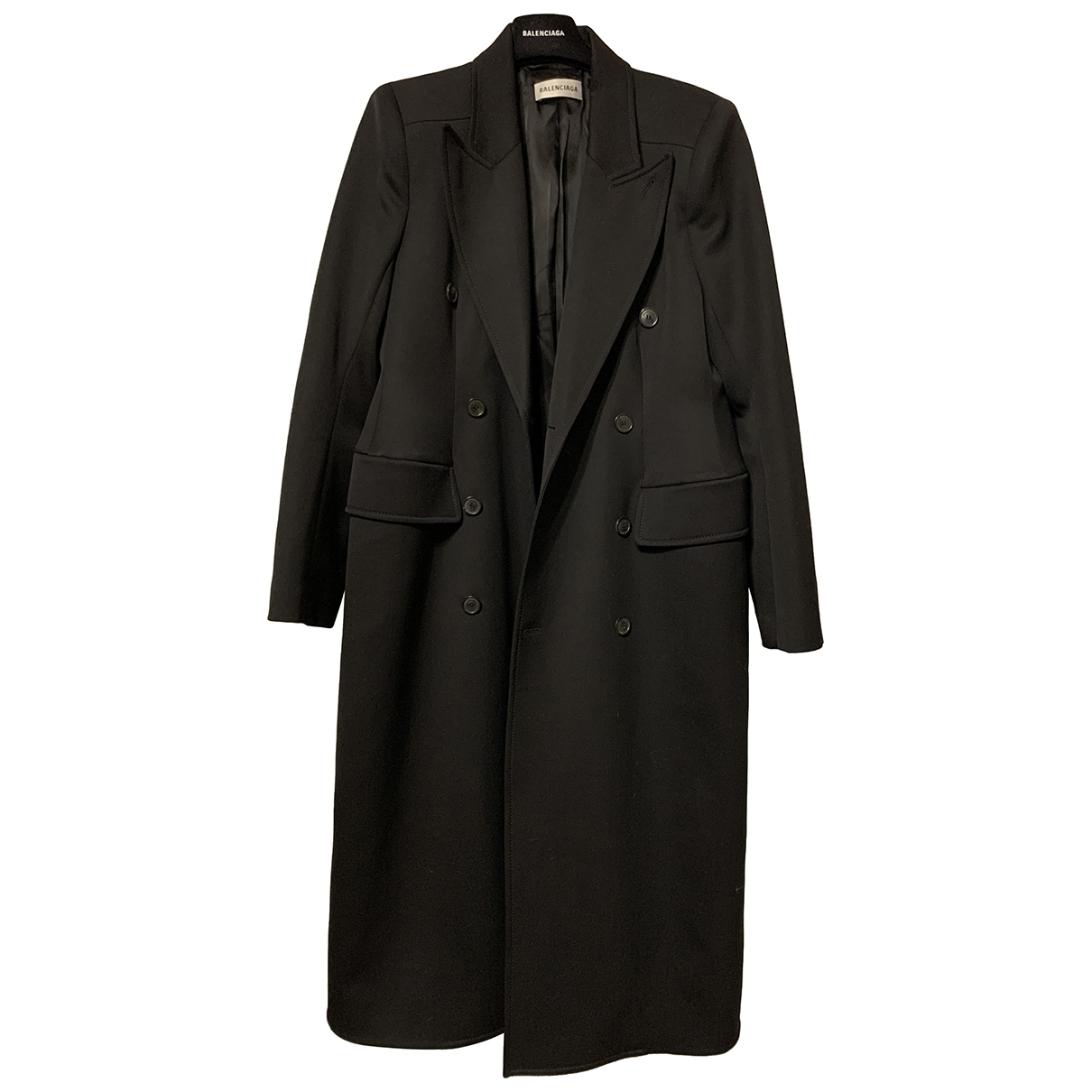 Balenciaga \N Black Wool coat for Women 40 FR