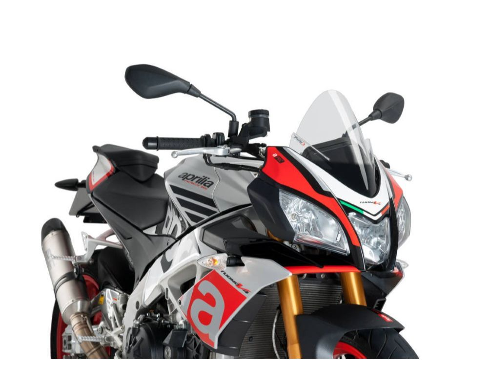 Puig 7615W Z-Racing Windscreen - Clear Aprilia Tuono V4 1100RR 2015